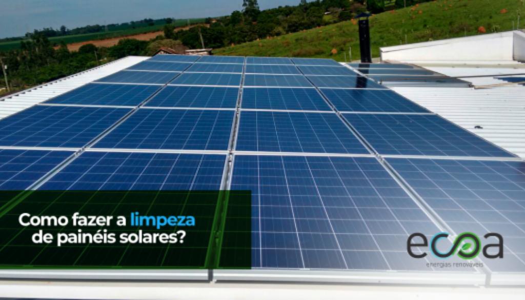 Limpeza painéis solares