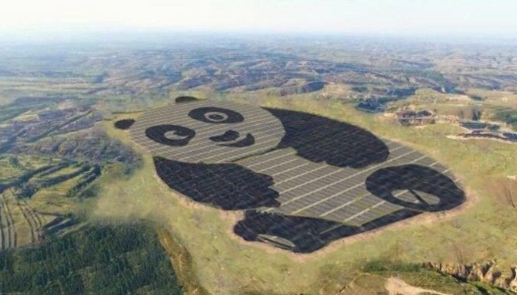 usina energia solar urso panda