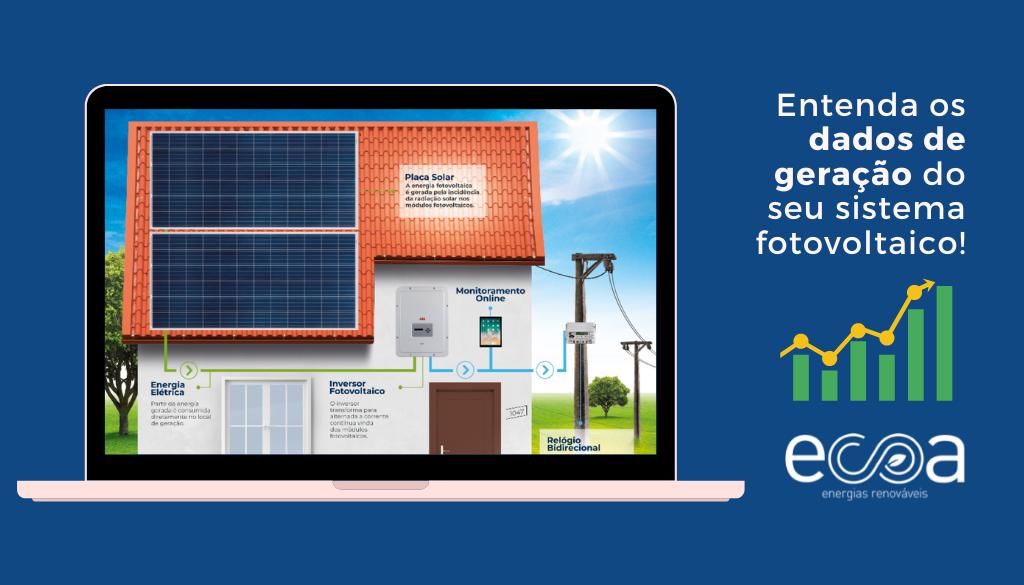 Geração e consumo sistema fotovoltaico