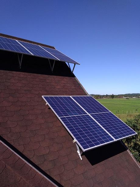Sistema fotovoltaico correção de angulo
