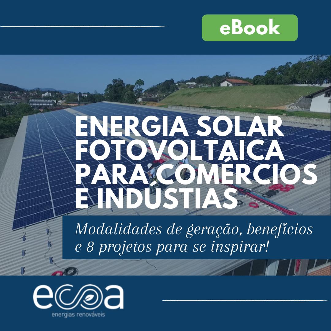 eBook energia solar para comércios e indústrias
