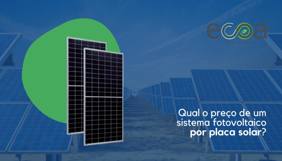 Preço por placa solar